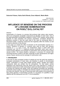 INFLUENCE OF BENZENE ON THE PROCESS OF n