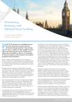 Democracy, Business, and Political Party Funding