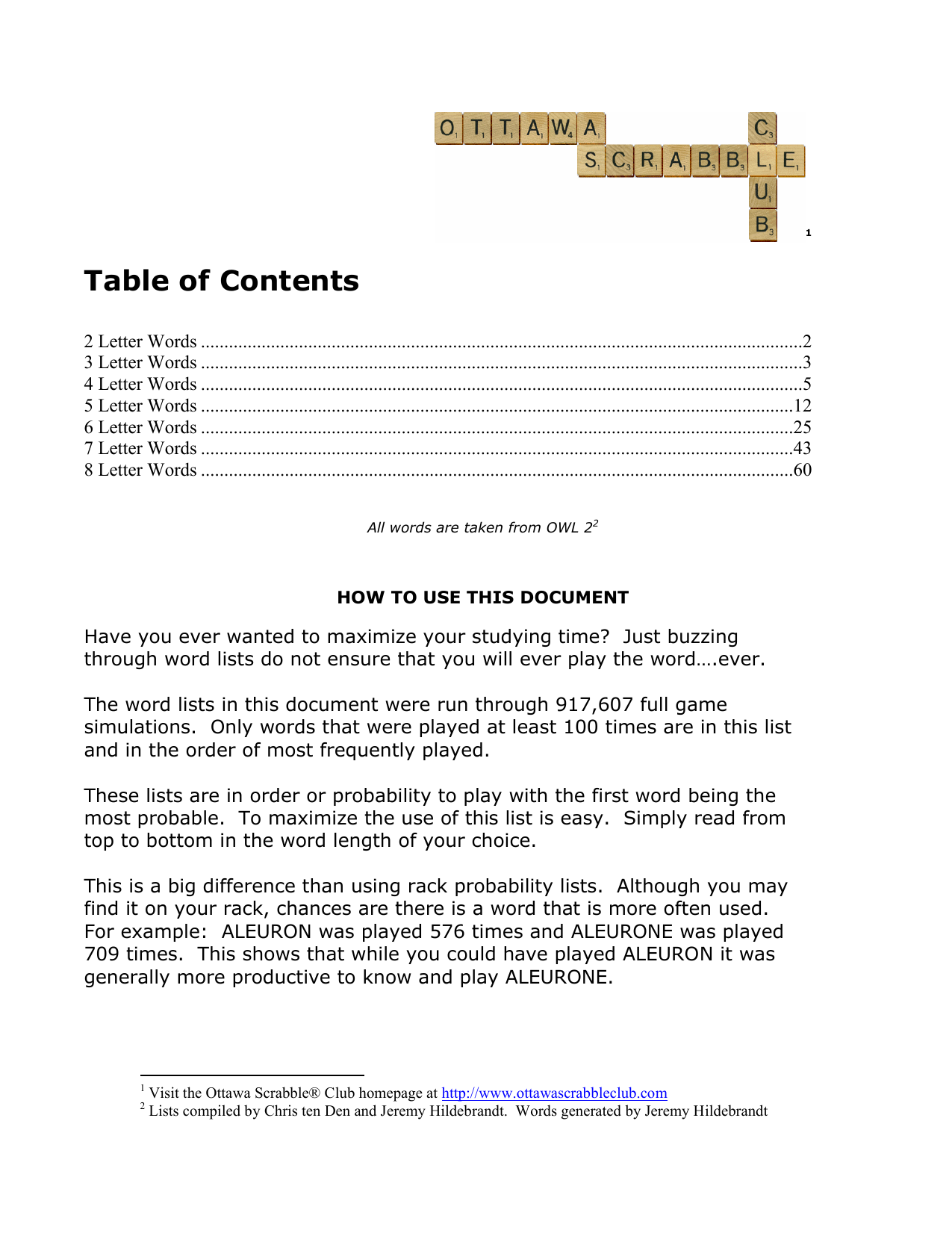 Table Of Contents Ottawa Scrabble Club 7 Way Trailer Plug Wiring Diagram Contrail Triler