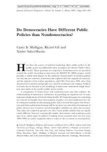 Do Democracies Have Different Public