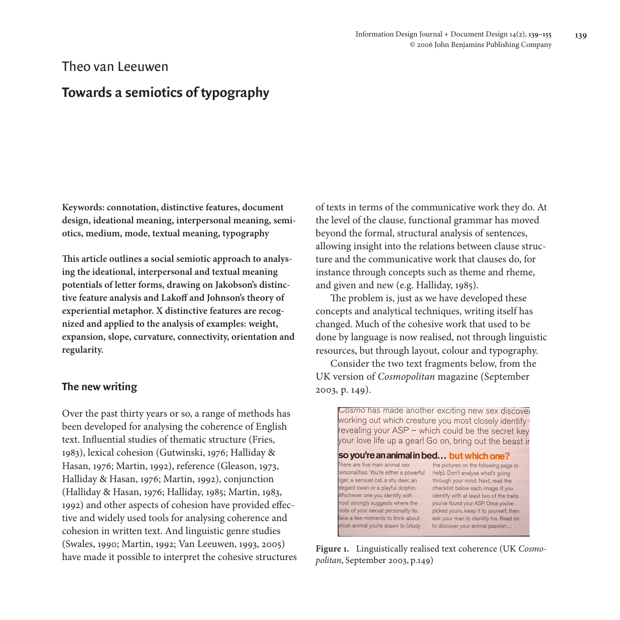 Theo Van Leeuwen Towards A Semiotics Of Typography