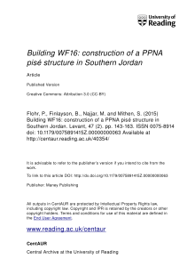 Building WF16: construction of a PPNA pisé structure in Southern