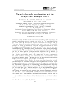 Numerical models, geochemistry and the zero-paradox noble