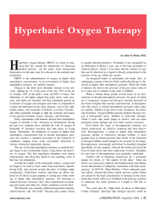 Hyperbaric Oxygen Therapy - Health Professions Institute