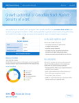 Growth potential of Canadian Stock Market
