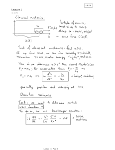Lecture 1-3 - UD Physics