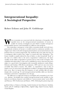 Intergenerational Inequality: A Sociological Perspective