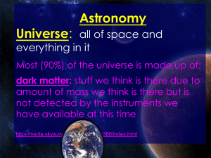 Astronomy PowerPoint - Petal School District