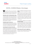 NICKEL-CADMIUM Battery Advantages