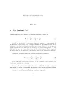 Vector Calculus Operators