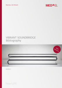 VIBRANT SOUNDBRIDGE Bibliography - Med-El