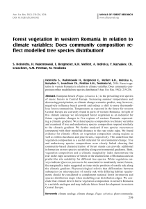 Forest vegetation in western Romania in relation to climate variables