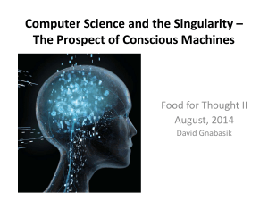 Food for Thought II - Singularity - Computer Science and Engineering