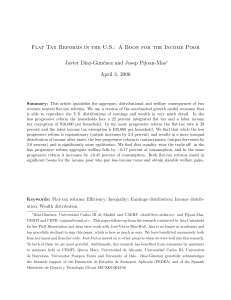 Flat Tax Reforms in the U.S.: A Boon for the Income Poor Javier D