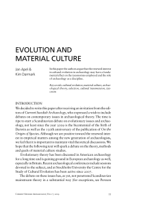 evolution and material culture