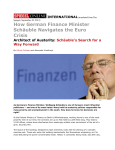 How German Finance Minister Schäuble Navigates the Euro Crisis
