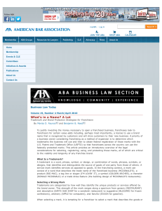 What`s in a Name? A Lot - American Bar Association