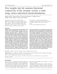 New insights into the anatomo-functional connectivity of the