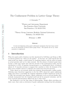 The Confinement Problem in Lattice Gauge Theory