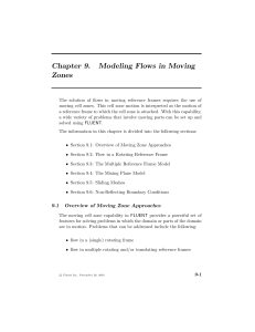 Chapter 9. Modeling Flows in Moving Zones