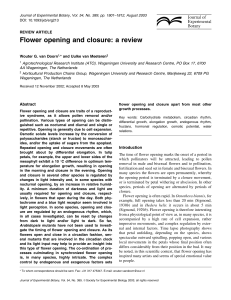 Flower opening and closure: a review