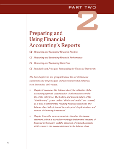 Preparing and Using Financial Accounting`s Reports