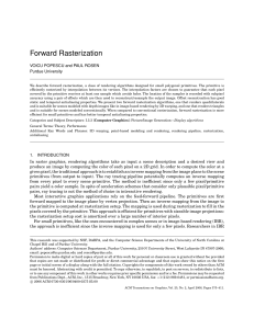 Forward Rasterization - Purdue Computer Science