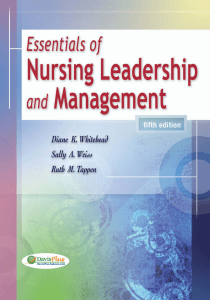 Essentials of Nursing Leadership and Management, 5th Edition