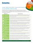 Human Capital Trends 2016: A Government Perspective