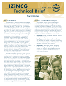Technical brief no. 4, 2007 - Program in International and