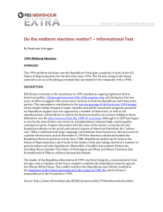 Do the midterm elections matter? – Informational Text