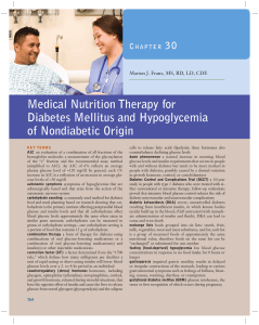 CHAPTER 30 Medical Nutrition Therapy for Diabetes Mellitus and