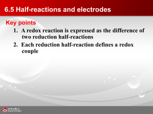 6.5 Half-reactions and electrodes