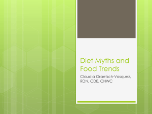 Diet Myths and Food Trends