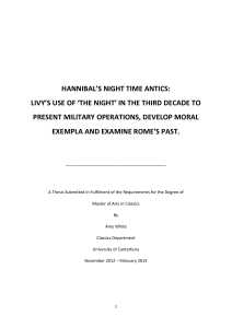 hannibal`s night time antics: livy`s use of `the night` in the third