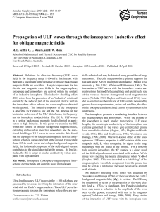 Propagation of ULF waves through the ionosphere: Inductive effect