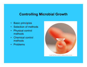 Controlling Microbial Growth