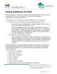 Eating Guidelines for Gout