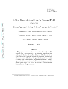 A New Constraint on Strongly Coupled Field Theories