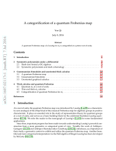 A categorification of a quantum Frobenius map