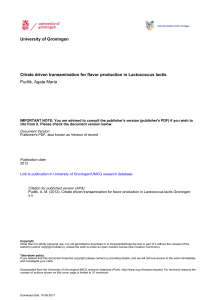 University of Groningen Citrate driven transamination for