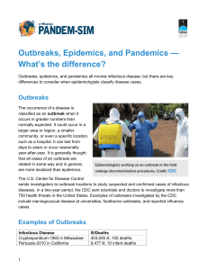 Outbreaks, Epidemics, and Pandemics — What`s the - Pandem-Sim
