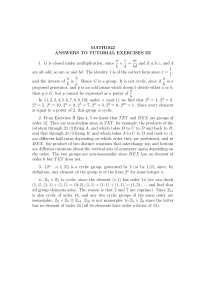 MATH1022 ANSWERS TO TUTORIAL EXERCISES III 1. G is closed