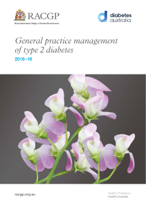 General practice management of type 2 diabetes