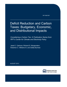Deficit Reduction and Carbon Taxes