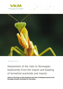 Assessment of risks to Norwegian biodiversity from the import