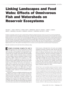Linking Landscapes and Food Webs: Effects of Omnivorous Fish