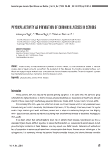 PhySICal aCtIVIty aS PrEVENtION Of ChrONIC IllNESSES IN