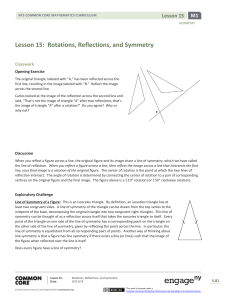 Lesson 15: Rotations, Reflections, and Symmetry