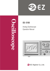 Analog Oscilloscope Operation Manual